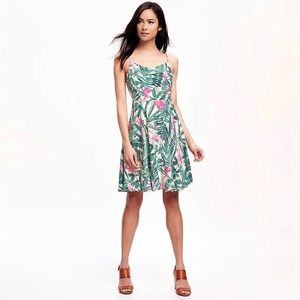 Old Navy Palm Print Cami Tank Dress